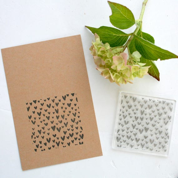 Hearts Clear Rubber Stamp - Hearts - Hearts Background Stamp - Hearts Stamp - Clear Rubber Stamp - Clear Stamp - Stamp Store