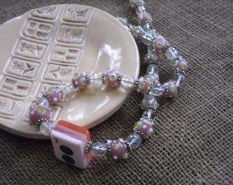 Pink Mahjong Necklace - Mahjong Gift - Oriental Jewelry - Mahjong Gift - Mahjong Surprise