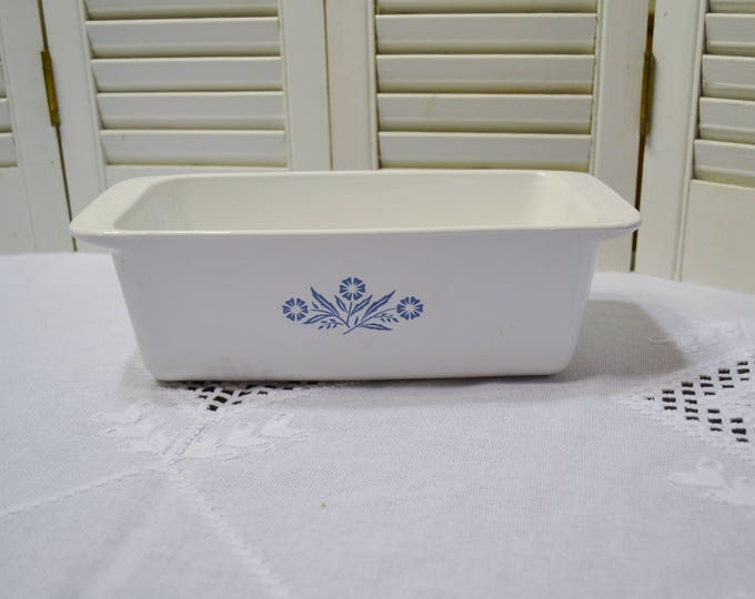 Vintage Corning Ware Cornflower Blue Loaf Pan Baking Dish Retro Kitchen Glass Bakeware P315B PanchosPorch