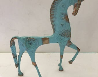 MCM brass horse figurine