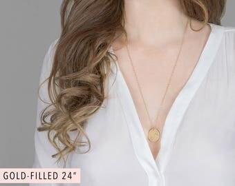 Constellation Necklace Personalized Zodiac Necklace Gold Circle Necklace Custom Disc Necklace Engraved Star Necklace Astrology Jewelry