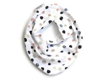 Polka dot bib, baby bib, bandana bib, scarf bib, baby gift, baby girl bib, drool bib, baby bib girl, bandana bib girl, baby scarf bib