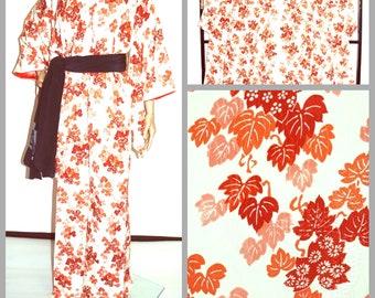 Kimono, Japanese Kimono, Vintage Kimono, Kimono Dress, Kimono Robe, Japanese clothing, Kimono Dressing Gown, Bridesmaid Robe, Kimono Fabric