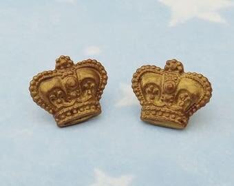 Royal Queen Crown Stud Earrings
