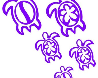Sea Turtle Family car decal sticker **FREE SHIPPING!!**
