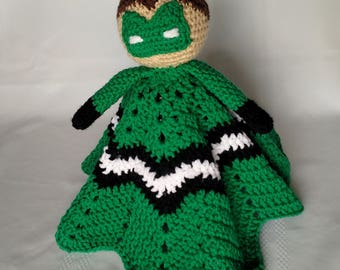 Green Lantern Inspired Lovey/Security Blanket