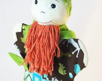 Viking toy, hand puppet viking, gift for boy, handmade toy for boys