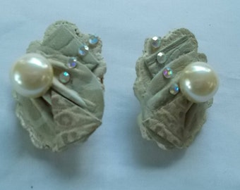 Two Pair of Hand Crafted Earrings.  (669)