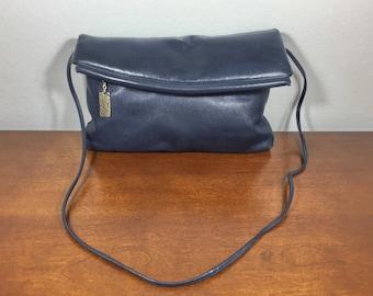 Four Seasons Blue Leather Purse, Bag, Shoulder Bag