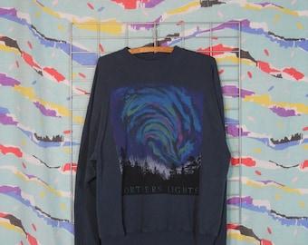 northern lights crew neck sweatshirt