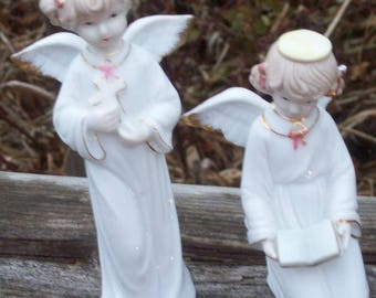 PORCELAIN ANGELS ~ Set of 2