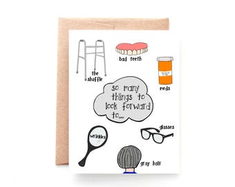 Funny Birthday Card for Husband - Birthday Card Funny - Friend Birthday Card - Wife Birthday - Getting Older Birthday Card - Over 40 Card