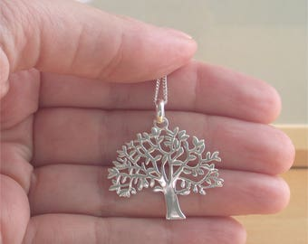 """925 Tree of Life Pendant & 18"""" Silver Chain/Tree of Life Necklace/Tree of Life Jewellery/Tree of Life Jewelry/925 Tree of Life Jewelry"""
