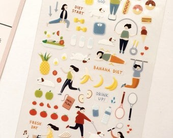 Diet Stickers // Planner Stickers