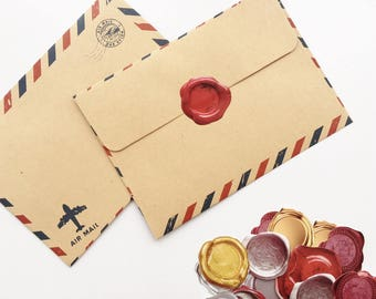 SALE 40% OFF Wax Seal Paper Stickers 45 pcs