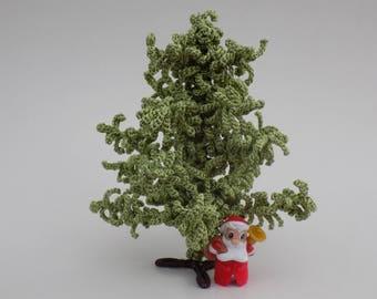 Tutoriel crochet: Mini Arbre de Noel au crochet, sapin miniature crocheté, tuto mini sapin, arbre crocheté, déco Noel, décoration de Noel