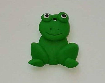 X 1 polymer clay Green Frog