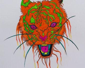 Punk Watercolor Tiger