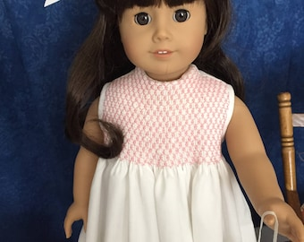 "Easter dress/Spring dress-hand smocked for 18"" doll"