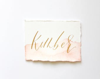 Modern Calligraphy Watercolor Escort Cards |Place Cards |Name Cards|Wedding Guest Favor|Wedding Stationery|Watercolor Place Cards|Watercolor