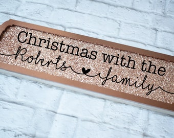Christmas Family Name Road Sign, Family Christmas Sign, Christmas With The Sign, Family Christmas Plaque, Personalised Christmas Plaque