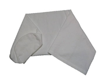 Cotton Flannel Bolster Cover - 6 Inch Three Quarter Round