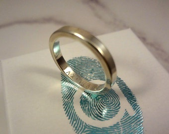 Roman Numerals Secret Message Sterling Silver Ring