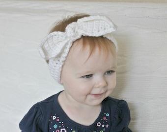 Crochet Baby Headband, Vintage Knot Headband, Baby Wrap Headband, Baby Turban Headband, Infant Headband, Vintage Wrap Headband, Baby Shower