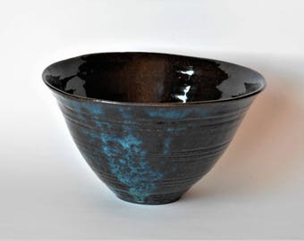 Large Blue Brown Bowl