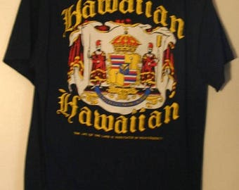Size Large Blue Dead Stock 1992 Hawaiian State Seal Two Sided Hawaiian Pride Tee Rare Perfect Condition Thin Ready To Ship Fast!!