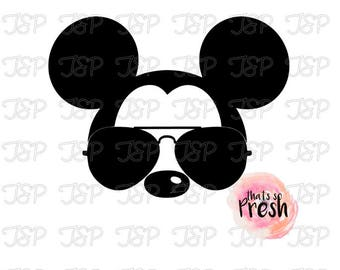 Disney Mickey Mouse Sunglasses Vinyl Decal, Disney Vinyl Decal, Mickey Mouse Sticker, Mickey Mouse Vinyl Decal, Mickey Mouse Decal