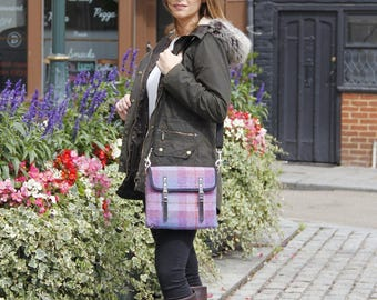 Harris Tweed Satchel cross body bag, Liberty bag, fashion bag