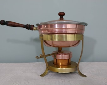 Vintage Copper 5 Pieces Fondue Set