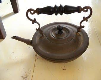 Vintage Copper and Brass Tea Pot
