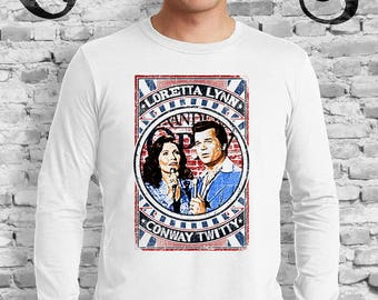 Loretta Lynn and Conway White Twitty T-Shirt Coal Miners Daughter. Duet. Duo. Country Music. Knoxville. Nashville. TN.