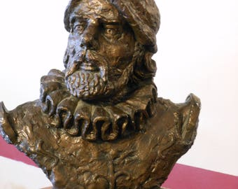 Bust of Spanish Explorer and Soldier Conquistador Hernan Cortes