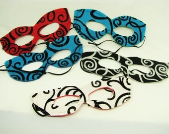 Mask Party Pack, Five Reversible Felt Swirly Masks