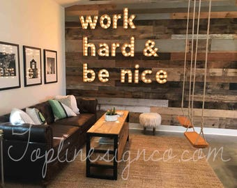 Lighted Wall Letters Captivating Light Letters  Etsy Review