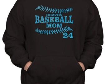 BASEBALL MOM HOODIE. Baseball Hoodie. Team Baseball. Baseball Team. Sports Team. Baseball Sweatshirt. Baseball Shirt. Custom Baseball.