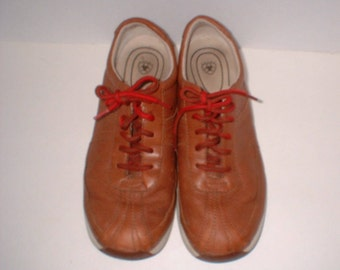 2ND REDUCTION Ariat All Terrian Walking Shoes Sneakers Cognac Leather Size 8.5 B ExC