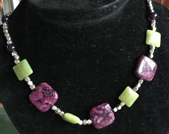 Jade & Amethyst Necklace