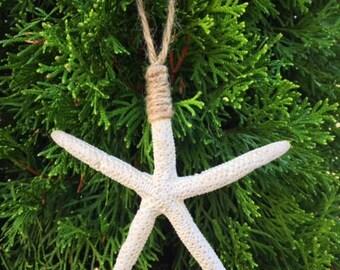White Starfish Ornament (Set of 3)