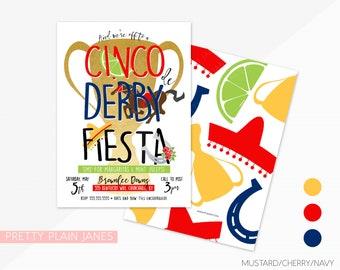 Cinco de Derby Fiesta Invitation | Derby de Mayo Fiesta Party | Kentucky Derby Fiesta Invitation | Derby Fiesta Printable Invite - 5X7