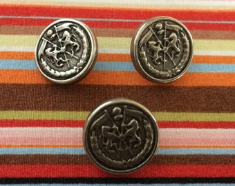 3 X Military Buttons