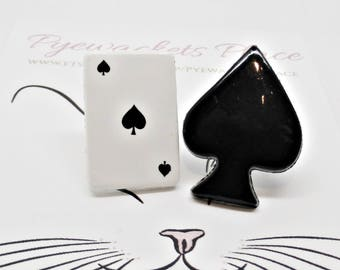 Alice In Wonderland Earrings,Ace of Spades Earrings, Ace of Spades Studs, Gothc Studs, Gothic Jewellery, Gift for Her