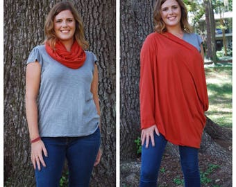Burnt Orange Nursing Scarf