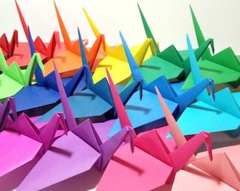 CUSTOM SIZE ORIGAMI, Giant Origami Cranes, Set Decorations, Extra Large Origami, Rainbow Wedding, Origami Garland, Origami Photo Backdrop