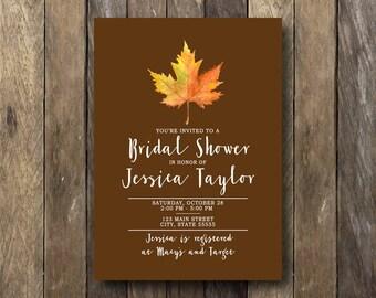 Fall Bridal Shower Invitation Printable