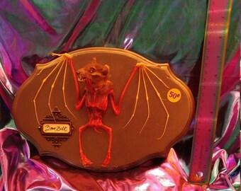 Zombie Taxidermy bat mount