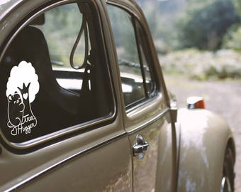 Kawaii Tree Hugger Bear - Vinyl Decal